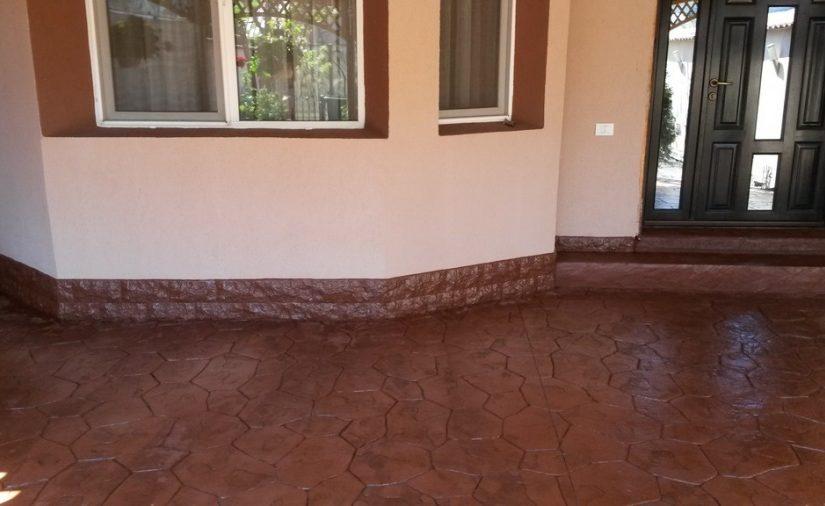 Am ales beton amprentat in locul pavelelor